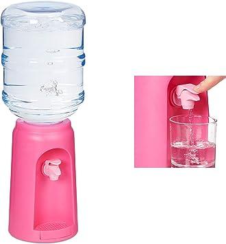 Pl/ástico Relaxdays Dispensador de Agua con Tanque y Grifo 47,5 x 17 cm 4,5L Rosa Accesorio de Oficina 1 Ud