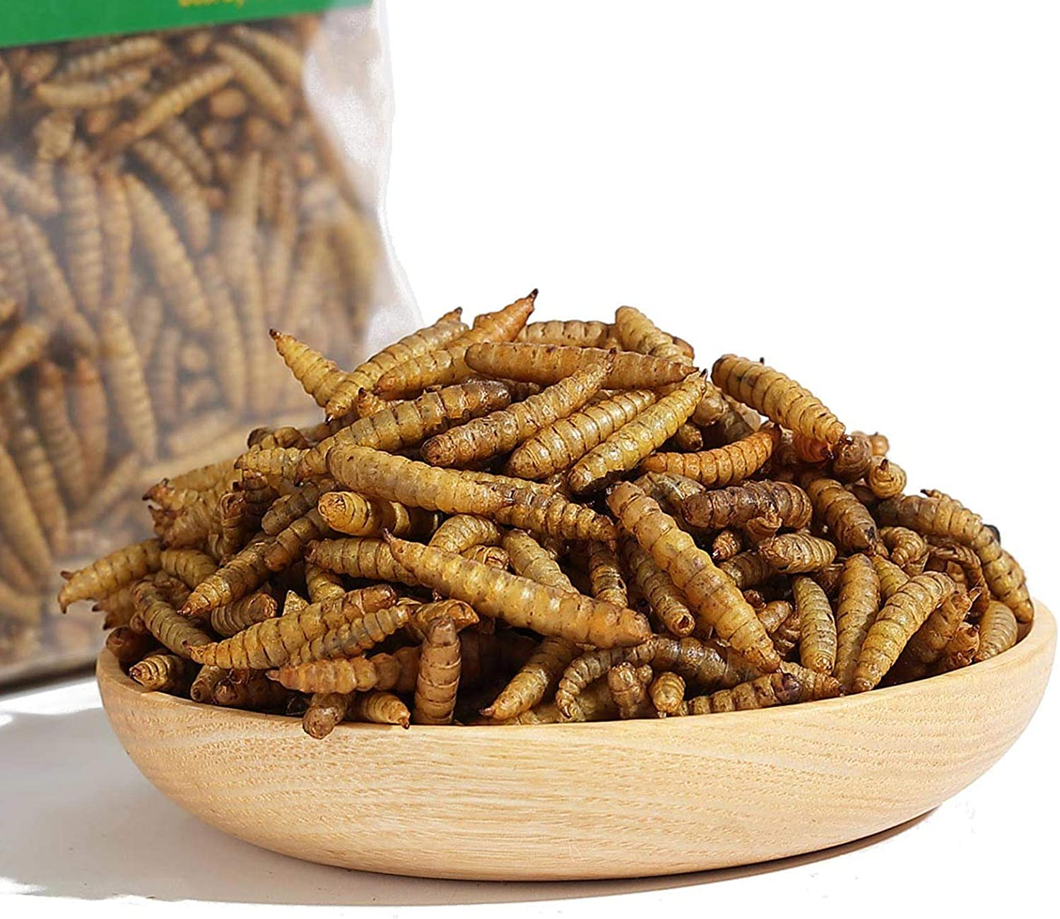SUNBELY 2lb Reptile Food Dried Black Soldier Fly Larvae Pet Treats for Bearded Dragon Lizard Turtles Chameleon Frog Fish