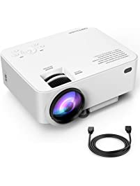DBPOWER T20 LCD Mini Movie Projector, Multimedia Home Theater Video Projector with HDMI Cable, Support 1080P HDMI USB SD...