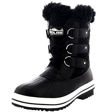 Amazon.com | Womens Snow Boot Nylon Short Winter Snow Fur Rain ...