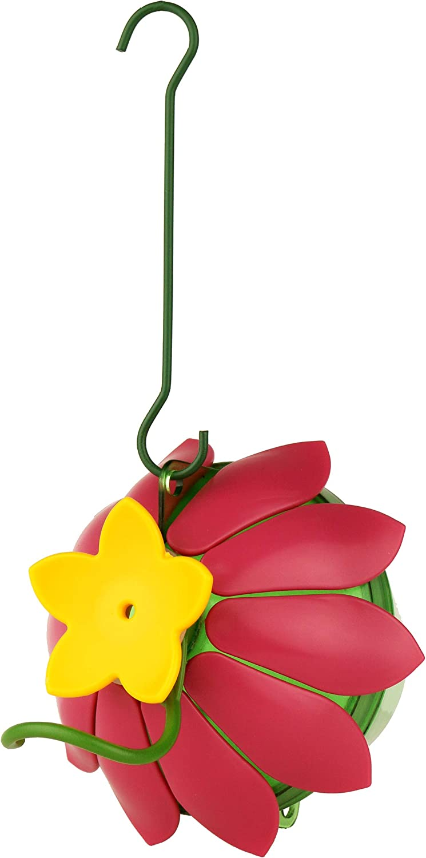 Nature's Way Bird Products SFHF1 So Real Single Flower Hummingbird Feeder, Pink