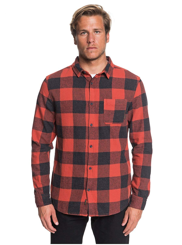 TALLA S. Quiksilver Motherfly–Camisa de Manga Larga para Hombre