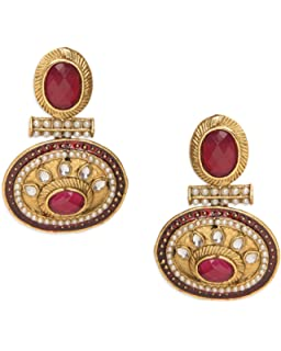 0f44e36c0 Crunchy Fashion Bollywood Style Traditional Indian Jewelry Chandbali  Earrings for Women