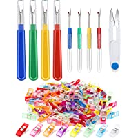 LUTER 50pcs Quilting Fabric Clips and 4pcs Sewing Seam Rippers with Scissor Nippers Colorful Thread Removing Tool Kit for Sewing//Crafting