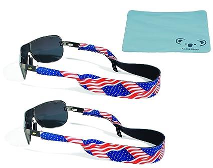 7f8a4b361323 Croakies Original Neoprene Patriotic Eyewear Retainer Sunglass Strap Band