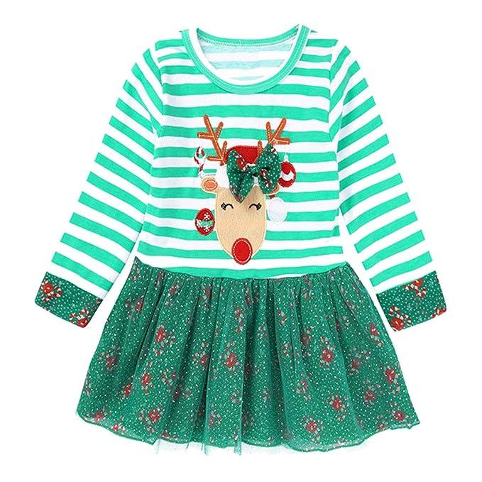 LPATTERN Vestido de Navidad para Bebé Niñas Diseño de Papa ...