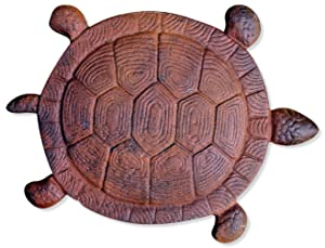 Sunset Vista Designs Cast Iron Turtle Garden Stepping Stone, 13-Inch long
