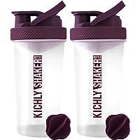 KICHLY Eiwit shaker fles met shaker bal (830 ml/28-Oz) met veilige drinken Flip Cap - Perfect Fitness & Workout Partner…