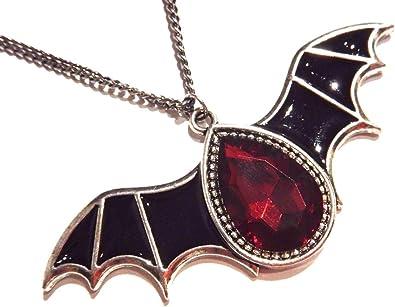 Halloween collar murciélago collar Gothic joyas vampiro fledermauskette