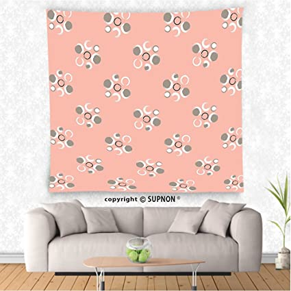 Amazon.com: VROSELV custom tapestry Coral Decor Tapestry Retro ...