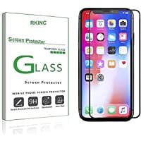 "RKINC for Iphone XR Screen Protector, [1 Pack] Full Coverage Tempered Glass Clear Screen Protector [9H Hardness][3D Round Edge][0.33mm Thickness] for Apple Iphone XR 6.1"" 2018, Black"