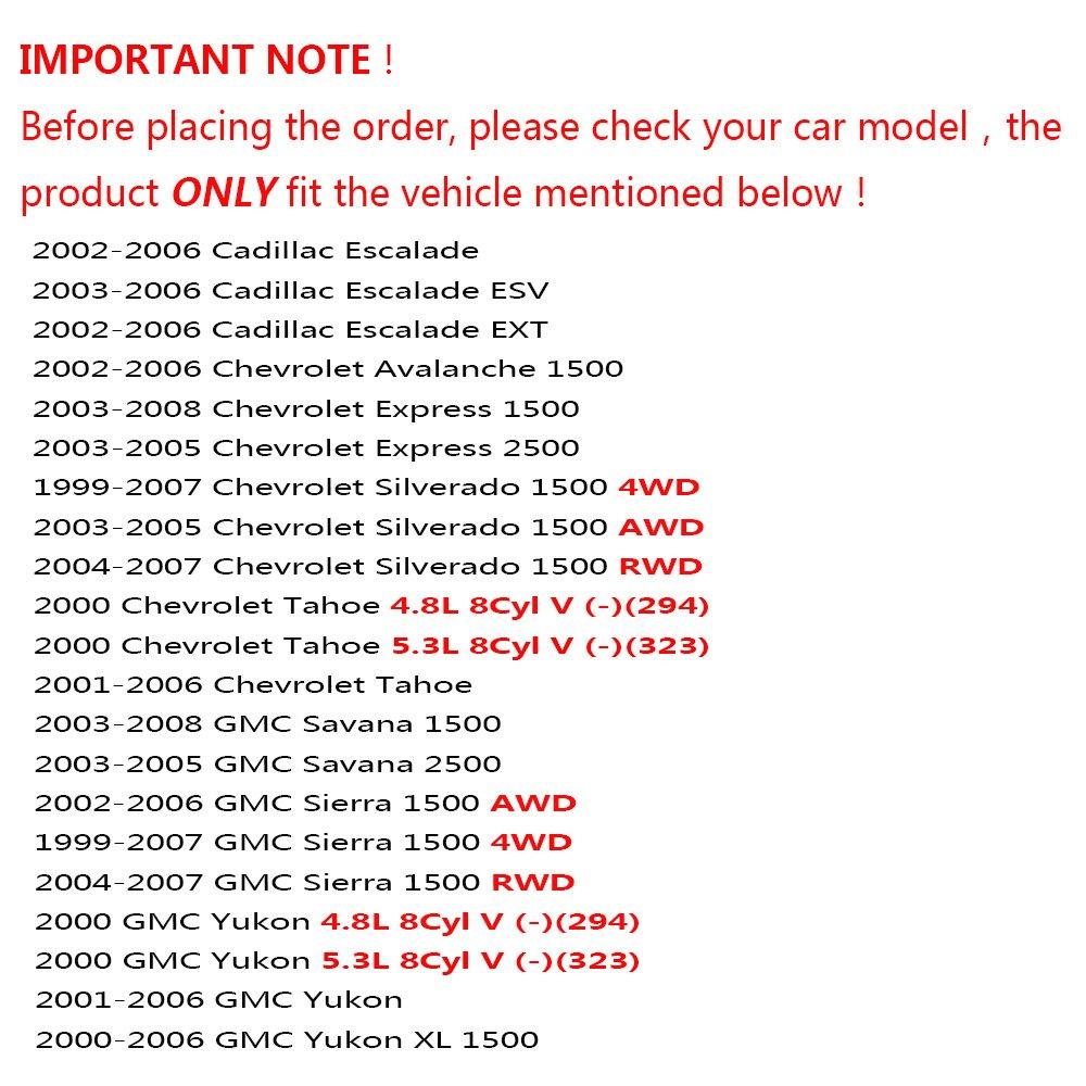 DLZ 4 Pcs Front Suspension Kit-Lower Upper Ball Joint Compatible with Chevrolet Silverado Express GMC Savana Sierra 1500 Tahoe Yukon, Chevrolet Avalanche 1500, Cadillac Escalade ESV EXT K6540 K6541