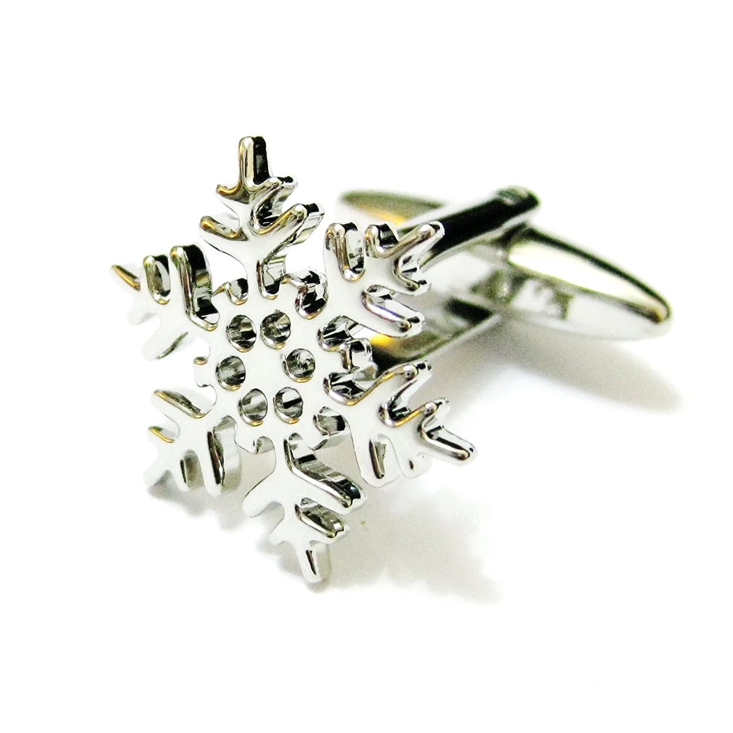 South Royal Silver Snowflake Cufflinks Christmas Cuff Links Winter Gemelos Tailor B 011055-4