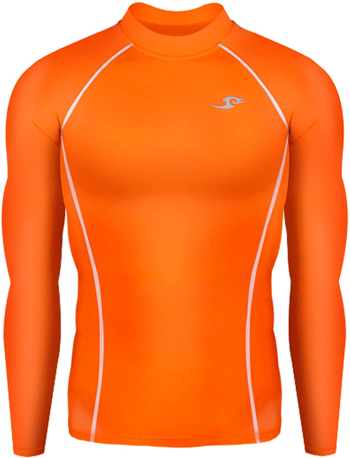 c34dd3d7d58 New 137 Skin Tight Compression Base Layer Orange Running Shirt Mens   Amazon.co.uk  Sports   Outdoors