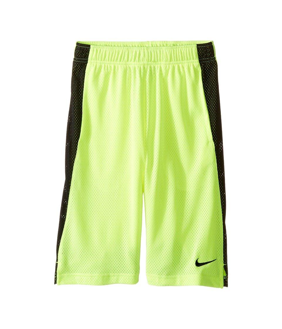 Nike Kids Yaモンスターメッシュショーツ、ボルト/ブラック/ブラック, Large   B01A7QJII6