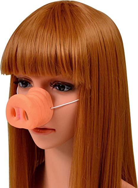 Amazon Co Jp Pig Nose With Elastic Band Pig Cosplay Accessories Costume Halloween Hobby
