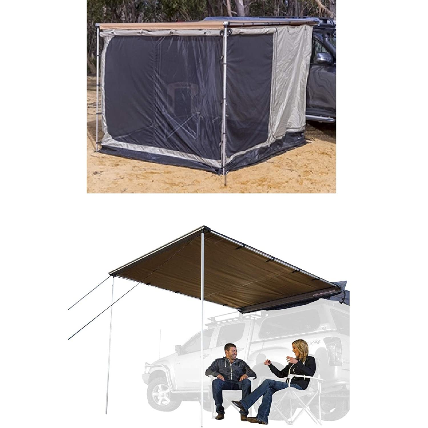 ARB 813208A//814201 Heavy Duty Awning Room Deluxe w//Floor 2000mm x 2500mm /& Awning