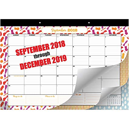 goodtimes desk calendar wall calendar 2018 2019 monthly planner runs from september 2018