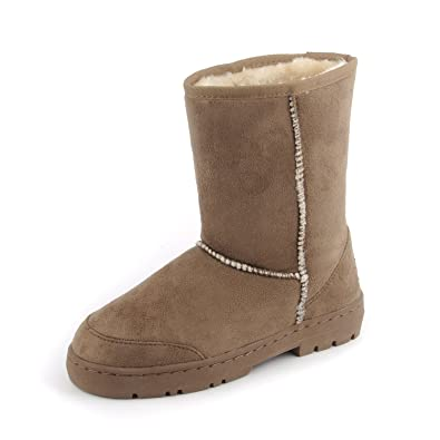 20182017 Boots Womens Long Fur Covered Rain Fur Lined Winter Waterproof Tall Snow Boots Best Deals