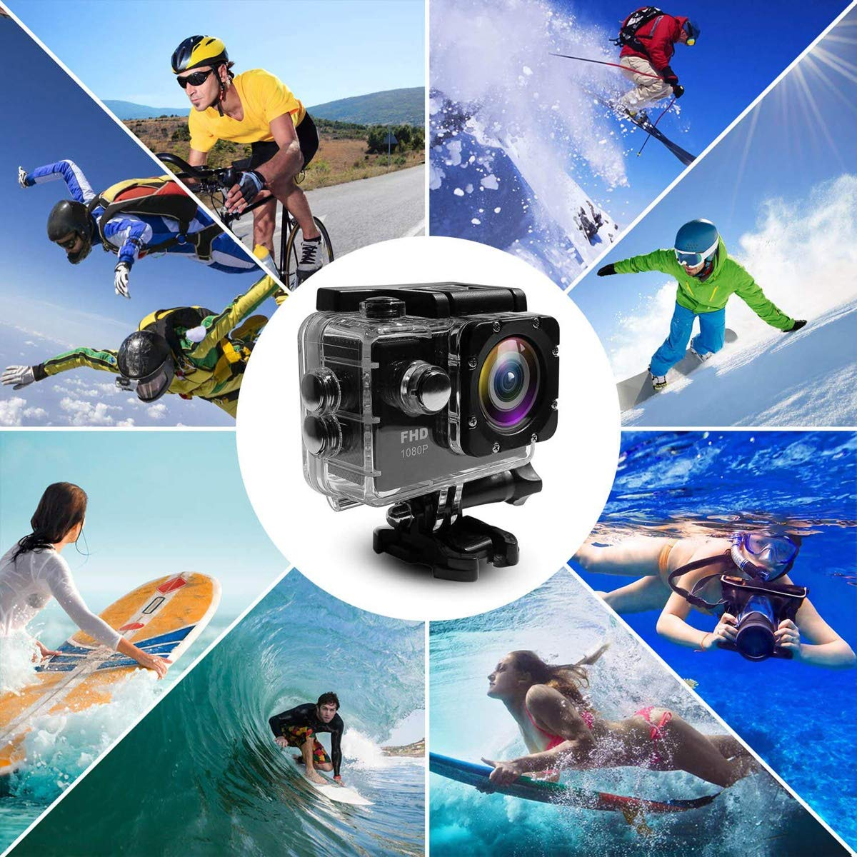 Nesolo Kids Digital Camera, Waterproof Camera for Kids Toy for Boy Girls Holiday Birthday Gift with 2.0 Inch LCD Display by Nesolo (Image #7)
