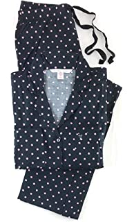 4d7a08658511 Amazon.com  Victoria s Secret Satin Pajama Romper Rhinestone Button ...