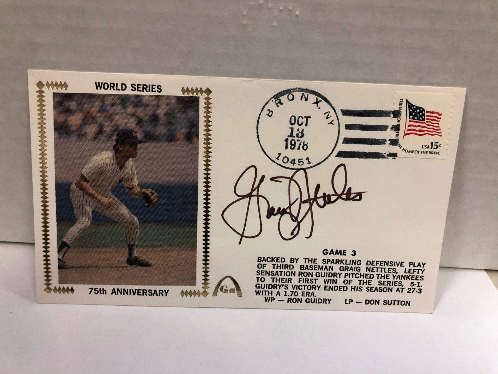 Graig Nettles Autographed Signed Original Silk Cachet First Day Issue COA JSA Certified MLB Cut Signatures