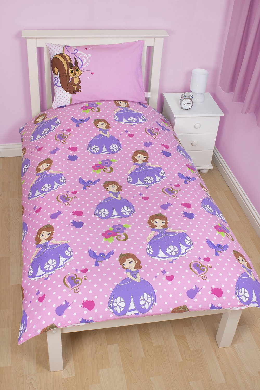 Sofia The First Bedroom Accessories Disney Sofia The First Amulet Single Panel Duvet Set Multi Colour