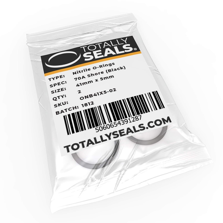 Schwarz 1 O-Ringe aus Nitrilkautschuk 70A Shore H/ärte verschiedene Packungsgr/ö/ßen 41 mm x 5 mm 51 mm Au/ßendurchmesser