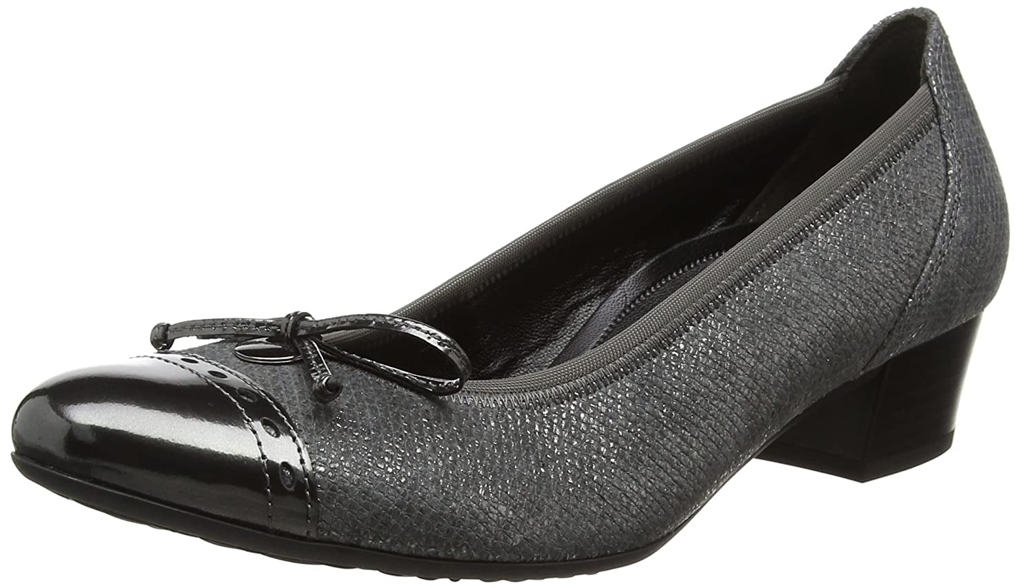 Dunkelgrau (Steel) Gabor Damen Comfort Fashion Pumps