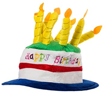 Image Unavailable Not Available For Color Plush Felt Birthday Cake With Candles Hat