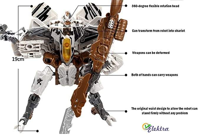 Buy Elektra Robot To Fighter Planes Converting Figure Toy Silver