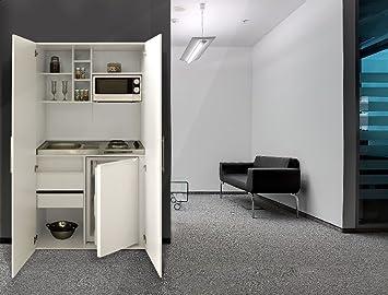 Miniküche Mit Kühlschrank Und Ceranfeld : Respekta single büro pantry küche miniküche schrankküche weiß