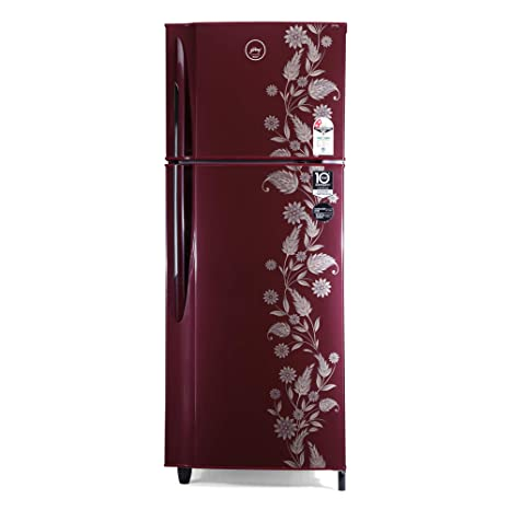 Godrej 255 L 2 Star Inverter Frost-Free Double Door Refrigerator (RF EON 255B 25 HI SC DR, Scarlet Dremin)