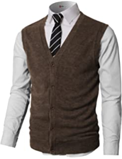 H2H Mens Casual Slim Fit Sweaters Vest Knitted Lightweight Thermal  Button-Down 515e4cefe