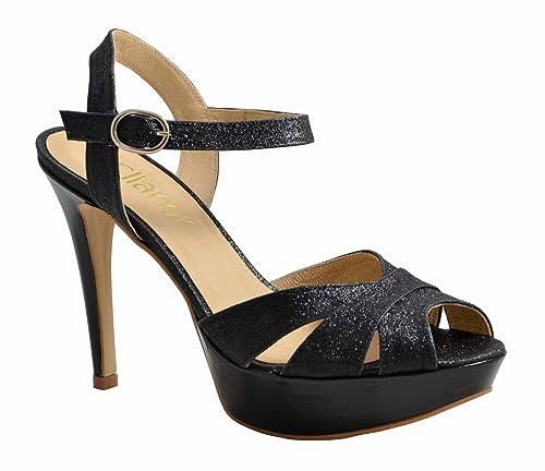 Negro114403n Con De Purpurina Tiras Elianor ShoesSandalias hQtrdCs