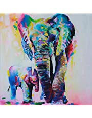 5D Diamond Painting Kit DIY Rhinestone Embroidery Cross Stitch Arts Craft for Home Wall Decor 11.8 * 11.8 inch (30 * 30cm) Oil Painting Elephant Mother and Baby