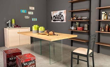 Legno&Design Tavolo soggiorno cucina in rovere da 180 cm. e gambe di ...