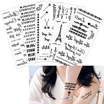 5 hojas impermeable temporal Tattoo Sticker Vivid vida como Lotus ...