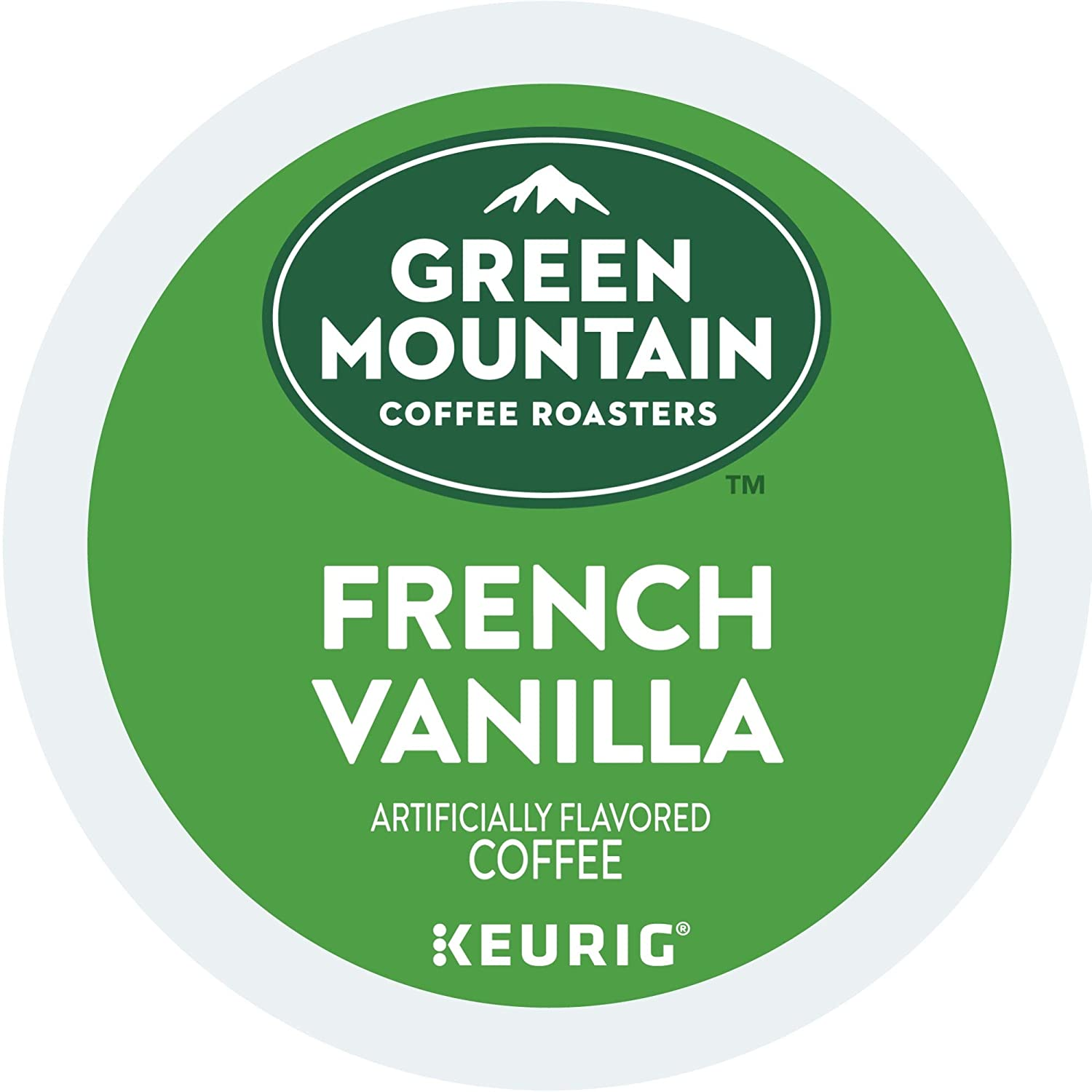 Green Mountain Coffee Roasters French Vanilla, Single-Serve Keurig K-Cup Pods, Flavored Light Roast Coffee, 96 Count