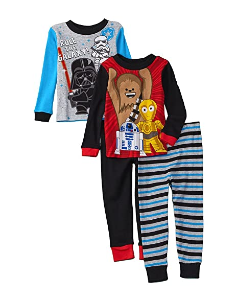 c2208e7d31 Amazon.com  Star Wars Boy s Cotton Pajama Set