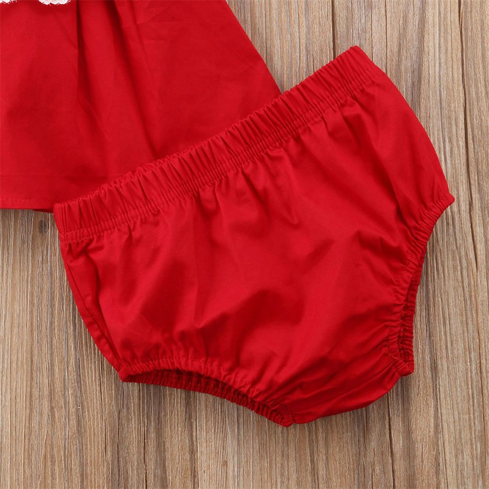 SunnyBaby Baby Girl Straps Lace Ruffle Sleeve Backless Crop Tops+Elastic Waist Shorts 2Pcs Outfits Summer Clothes