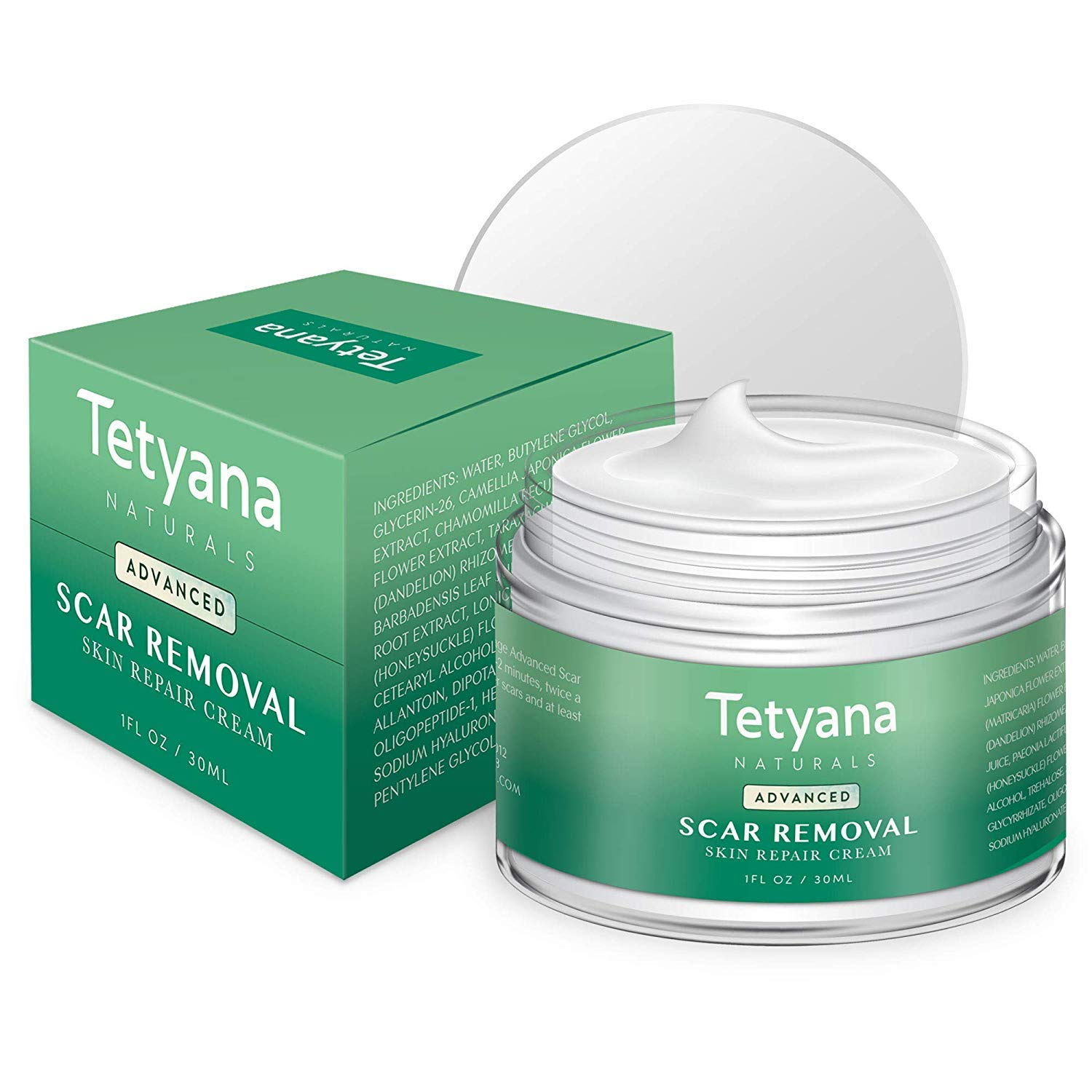 Tetyana naturals Scar Removal with Cream Natural Herbal Extracts Formula for Face & Body Old & New Scars from Cuts Stretch Marks, C-Sections & Surgeries (30ml 1pack) by Neutrogena (Image #3)