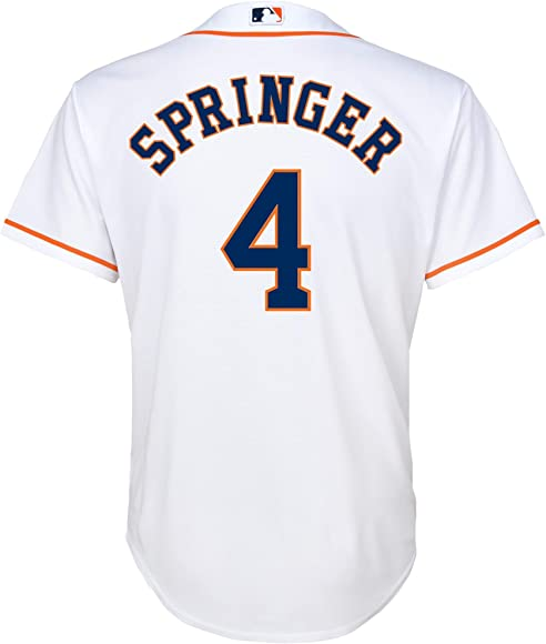 online retailer 1b2d5 172ae George Springer Houston Astros #4 White Youth Cool Base Home Replica Jersey
