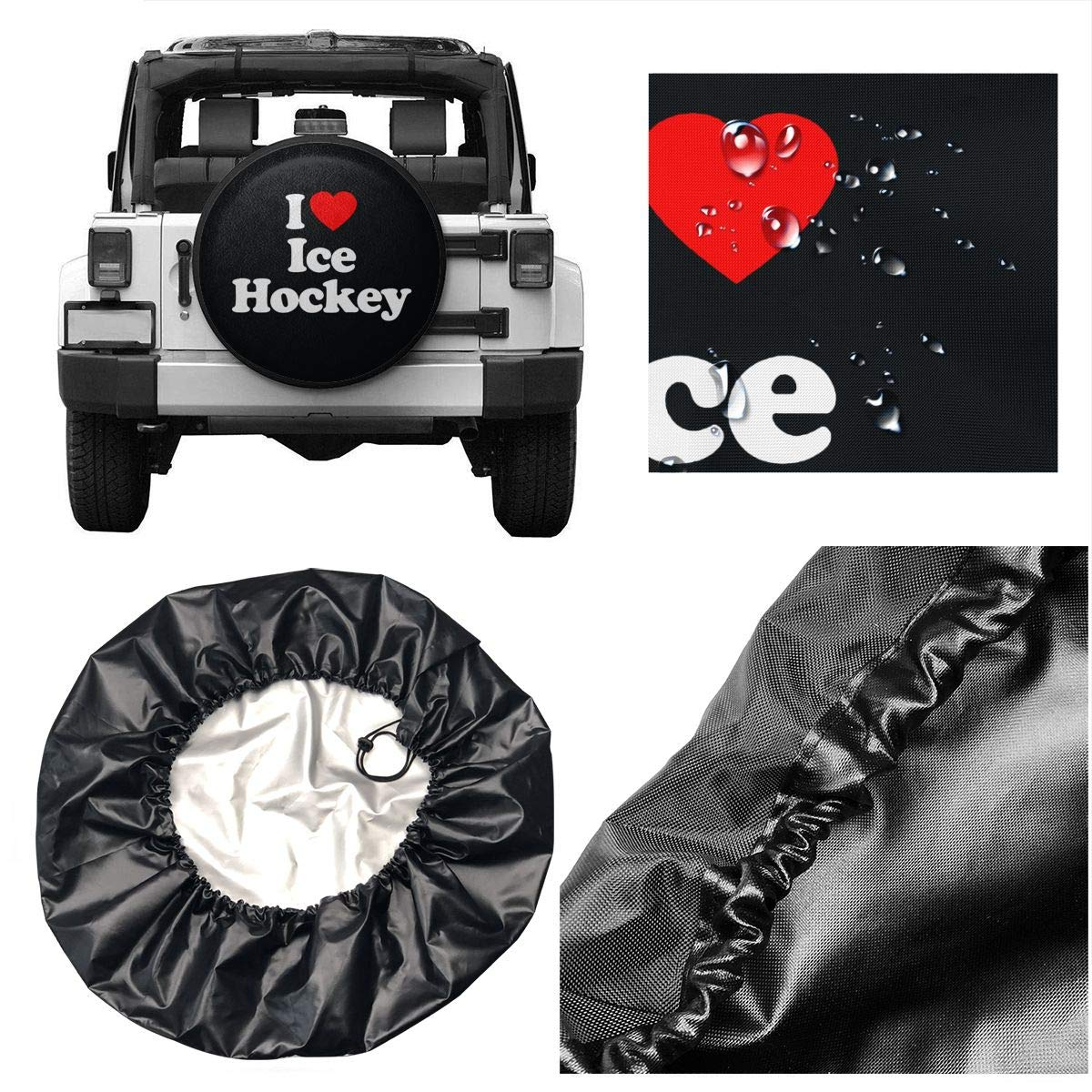 Love Taste Heart Spiders Spare Tire Cover Polyester Waterproof Dust-Proof Universal Spare Wheel Tire Cover Fit for Jeep,Trailer RV SUV and Many Vehicle DIY