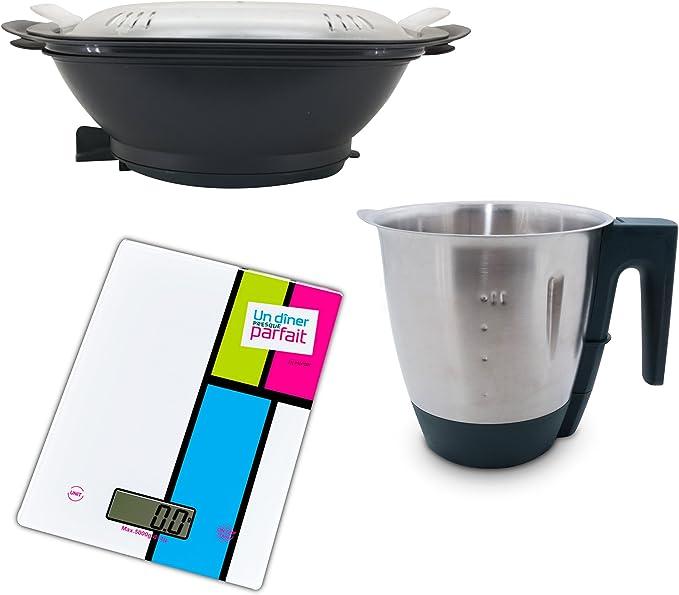 KitchenCook cprc0017 Pack bandeja vapor/cuenco mezclador Compatible Cuisio Pro con una báscula: Amazon.es: Hogar