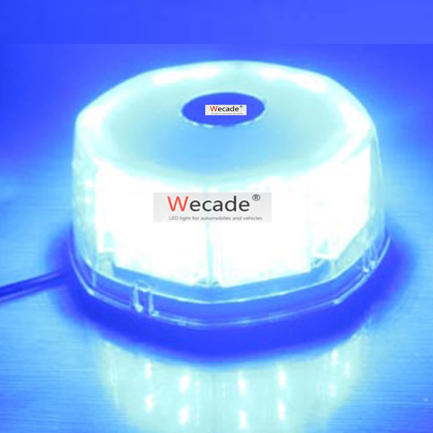 Wecade 32 LED Truck Vehicle Car Roof Top Flash Strobe Emergency Warning Hazard Warning Light Blue