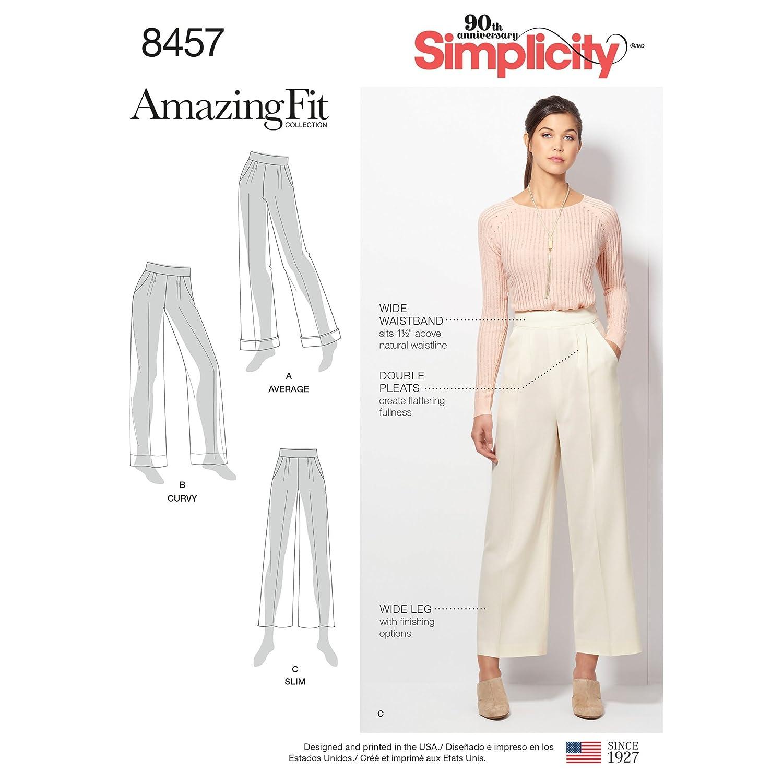 Simplicity 8457Pattern 8457 - Pantalón de mujer (talla 20W-28W ...