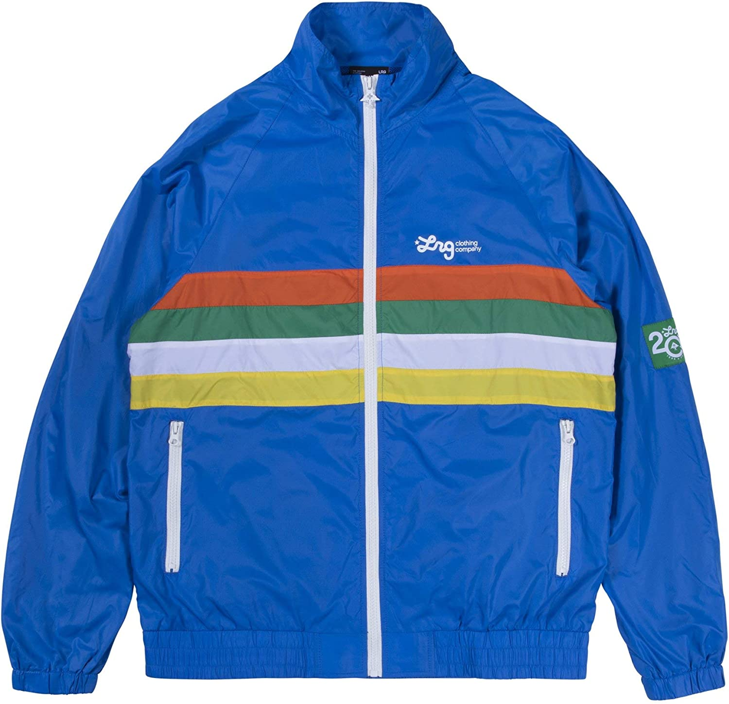 LRG Mens Lifted Research Group Zip Track Jacket