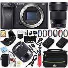 Sony a6500 4K Mirrorless Camera Body w/APS-C Sensor Black (ILCE-6500/B) with Sigma 30mm F1.4 DC DN Lens Bundle