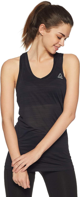Reebok Wor Activechill Slub Camiseta de Tirantes, Mujer